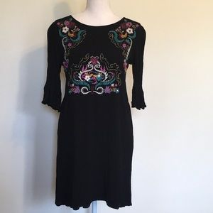 Xhilaration Embroidered Boho Mini Dress Sz M